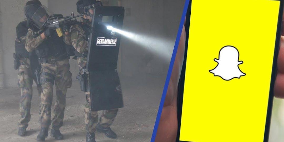 Le jeune gendarme avait envoyé les noms des membres du Psig de Montbrison à un rappeur local (Illustration: Facebook GGD42 + Flickr - Assemblage: L'Essor).