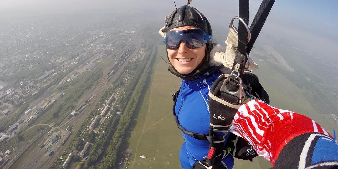 Léocadie Ollivier de Pury a parfaitement réussi les Mondiaux de parachutisme (crédit photo : DR)