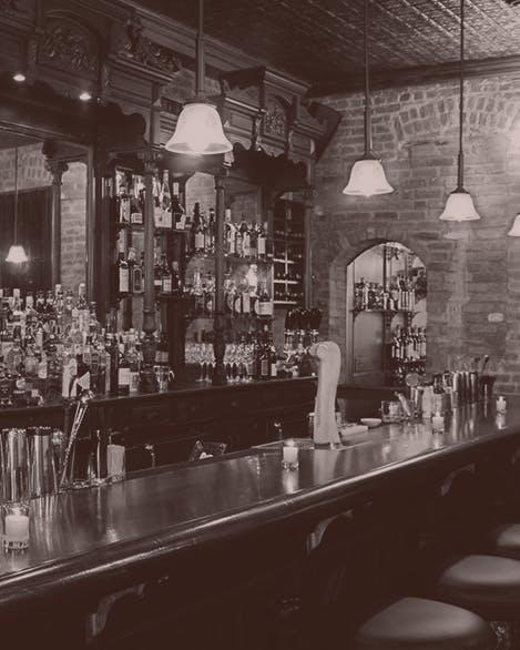 Bar counter.