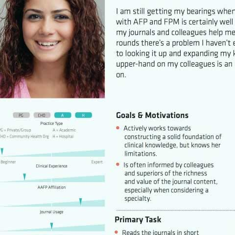 Screenshot of an example of a user persona document