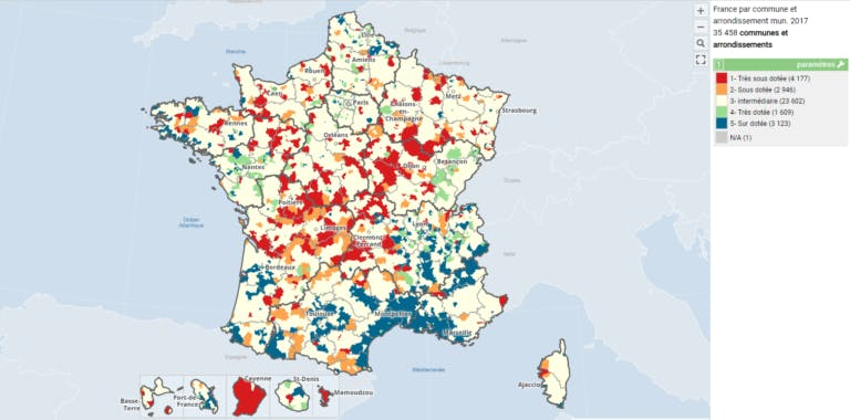 Zones de dotations pour les IDEL