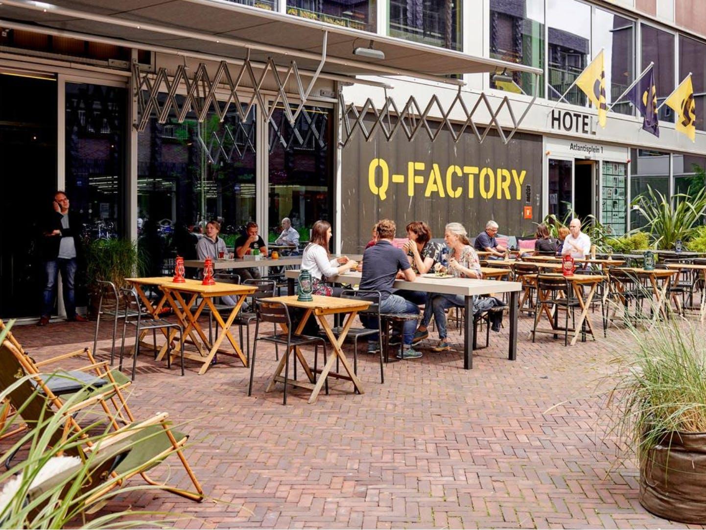 Q Factory terrace and garden