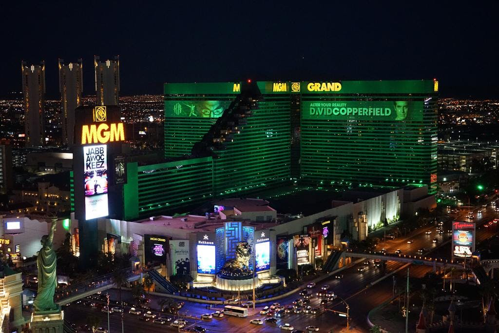 MGM Grand hotel view
