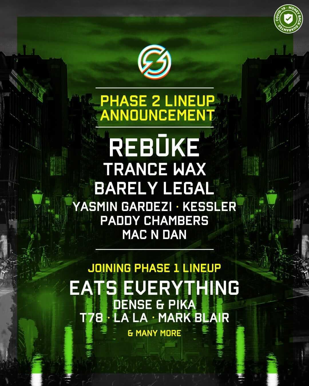 Shine Amsterdam lineup poster