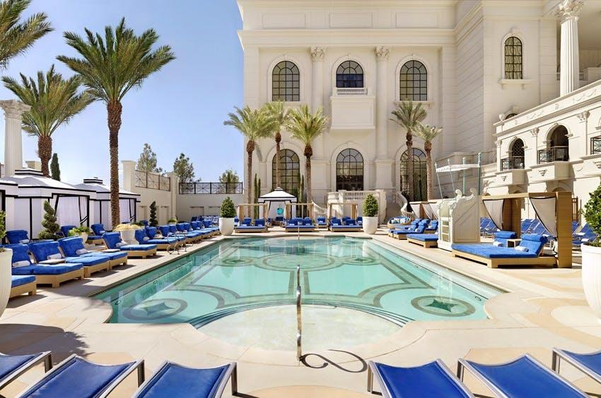 Caesars Palace pool