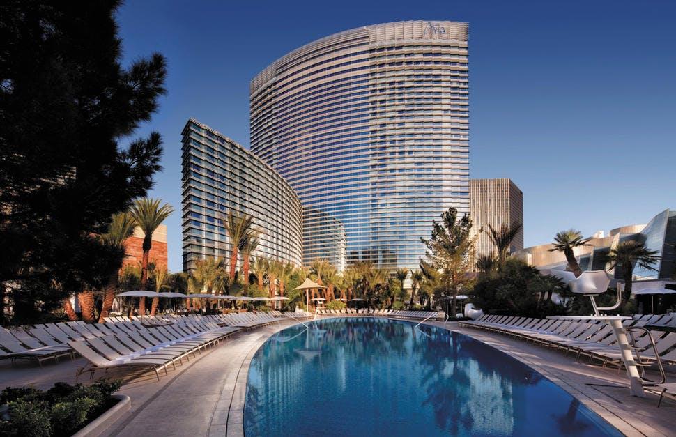 aria hotel pool