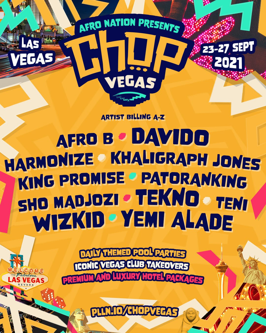 AfroNation Chop Vegas Lineup Pollen 2021