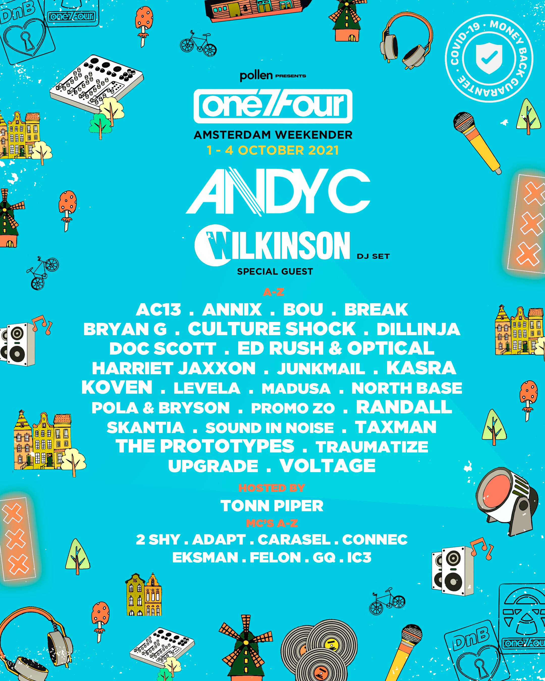 Andy C One 7 Four Line up image.