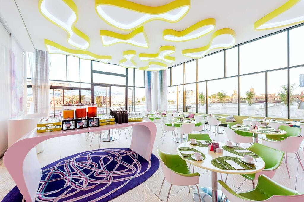 Nhow Hotel dining area