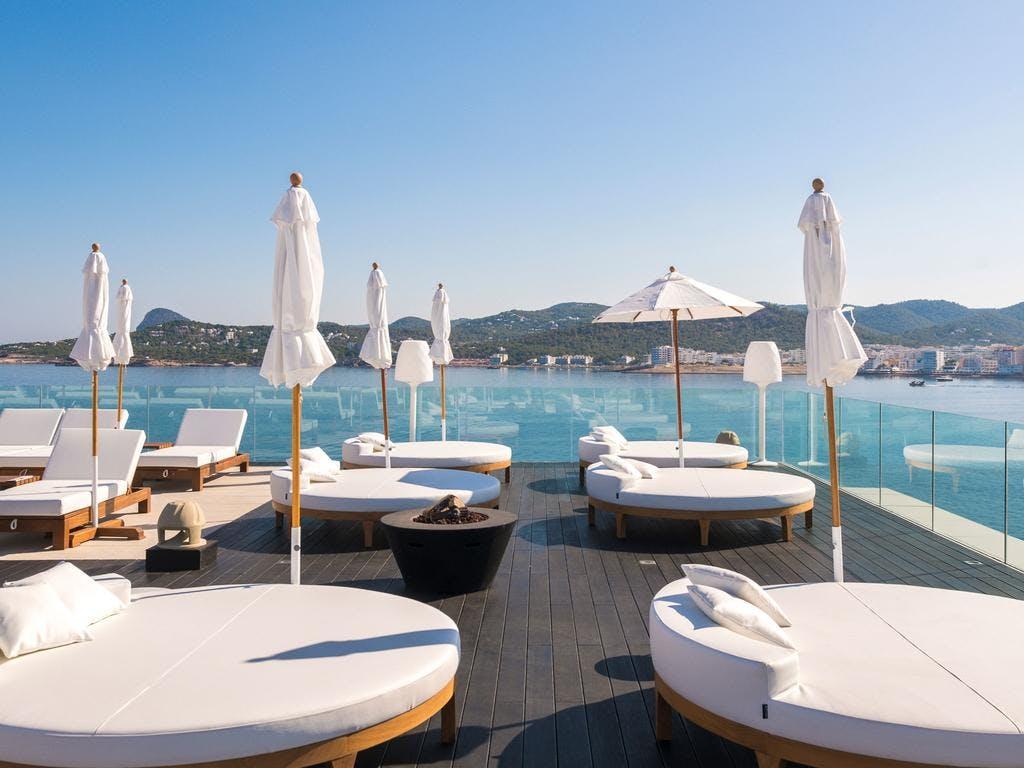 Amare beach hotel sunbeds