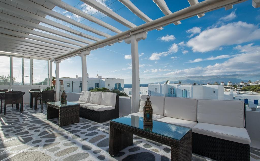 Mykonos Adonis Hotel Lounge Area