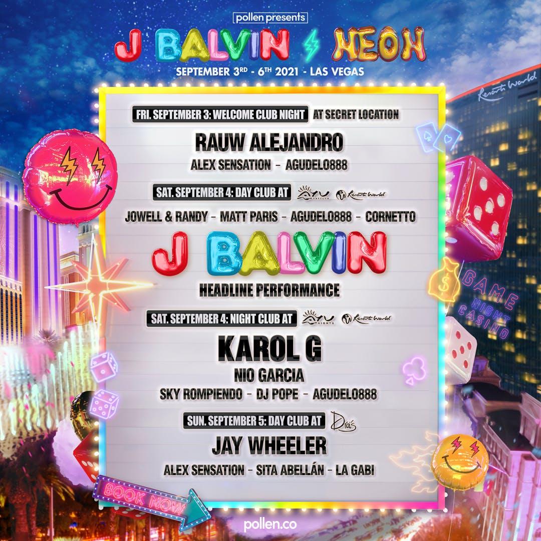 J Balvin Weekend 1 Line up