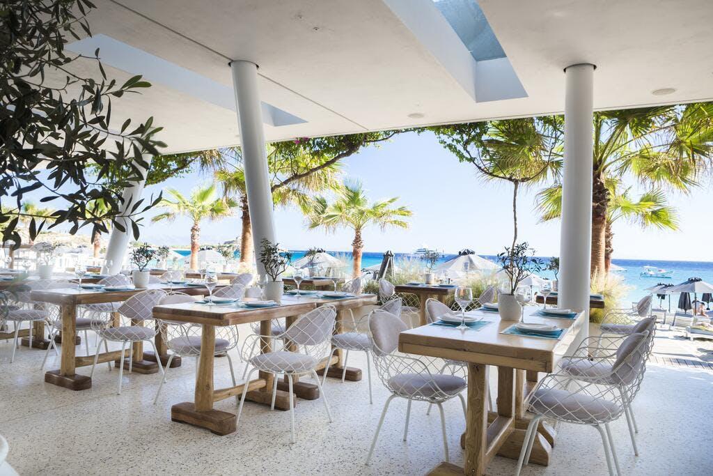 Mykonos Dove Beach Hotel Terrace
