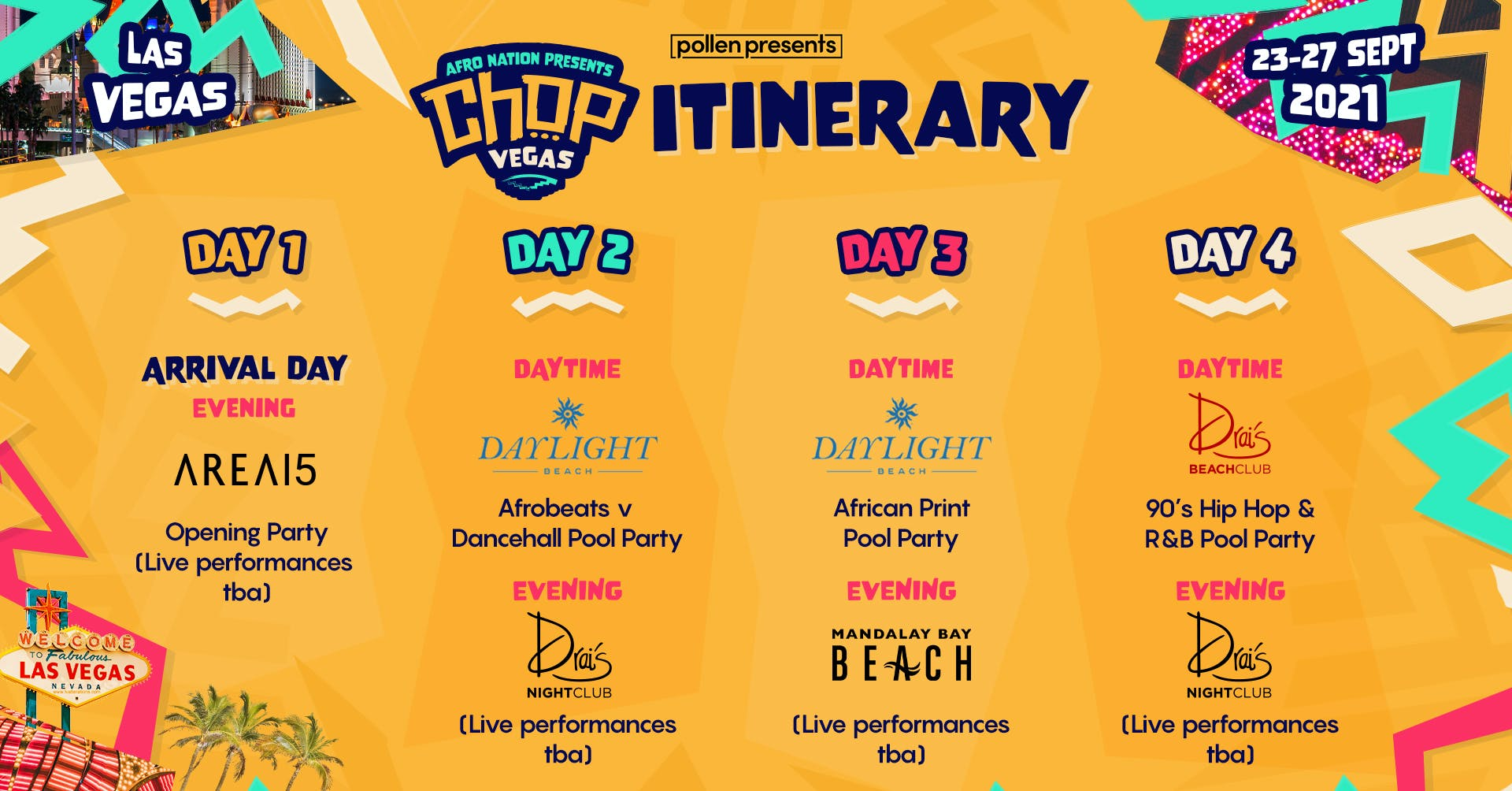 Afro Nation itinerary