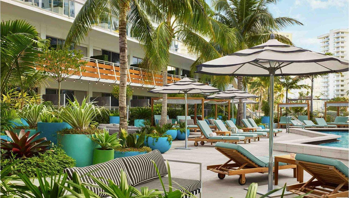 The Gates hotel sun loungers