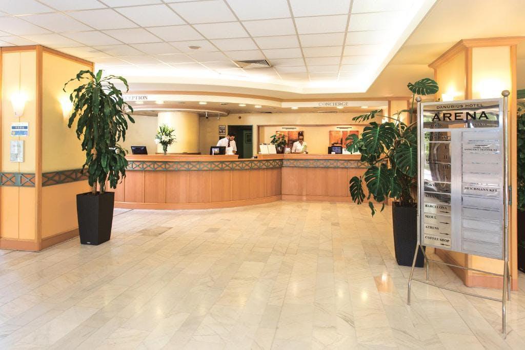 Danubius Hotel Arena reception