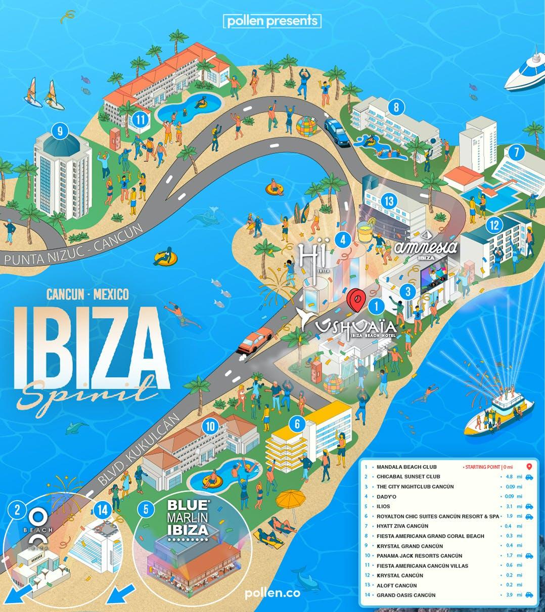 Ibiza Spirit Map