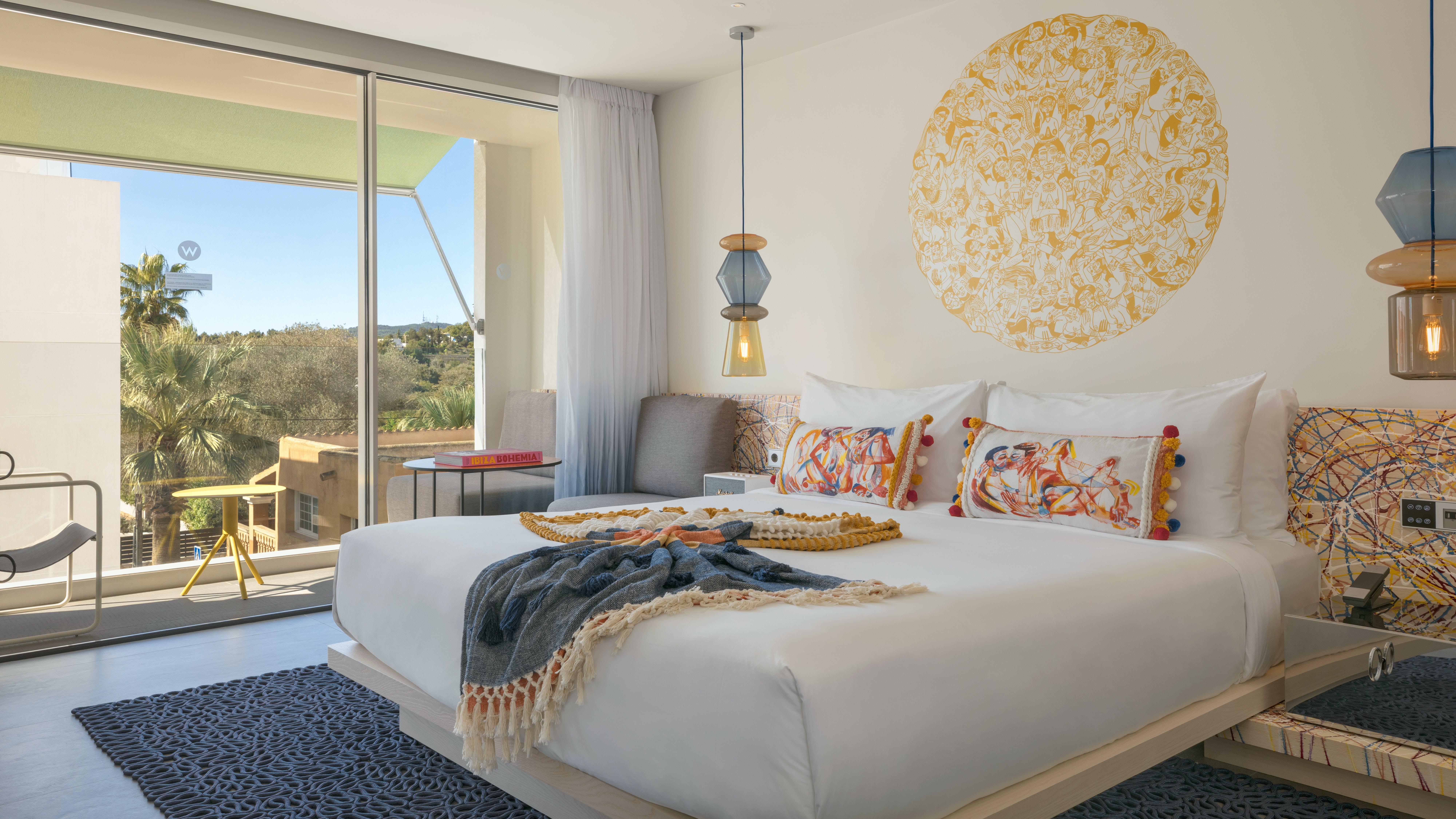W Ibiza Hotel bedroom