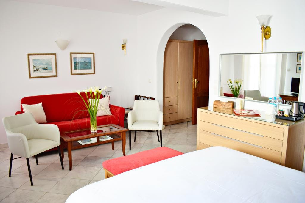 Mykonos Adonis Hotel Bedroom
