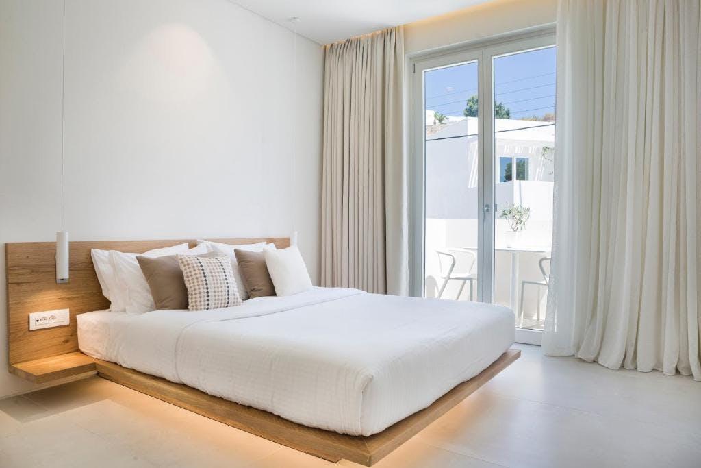 Mykonos Dove Beach Hotel Bedroom