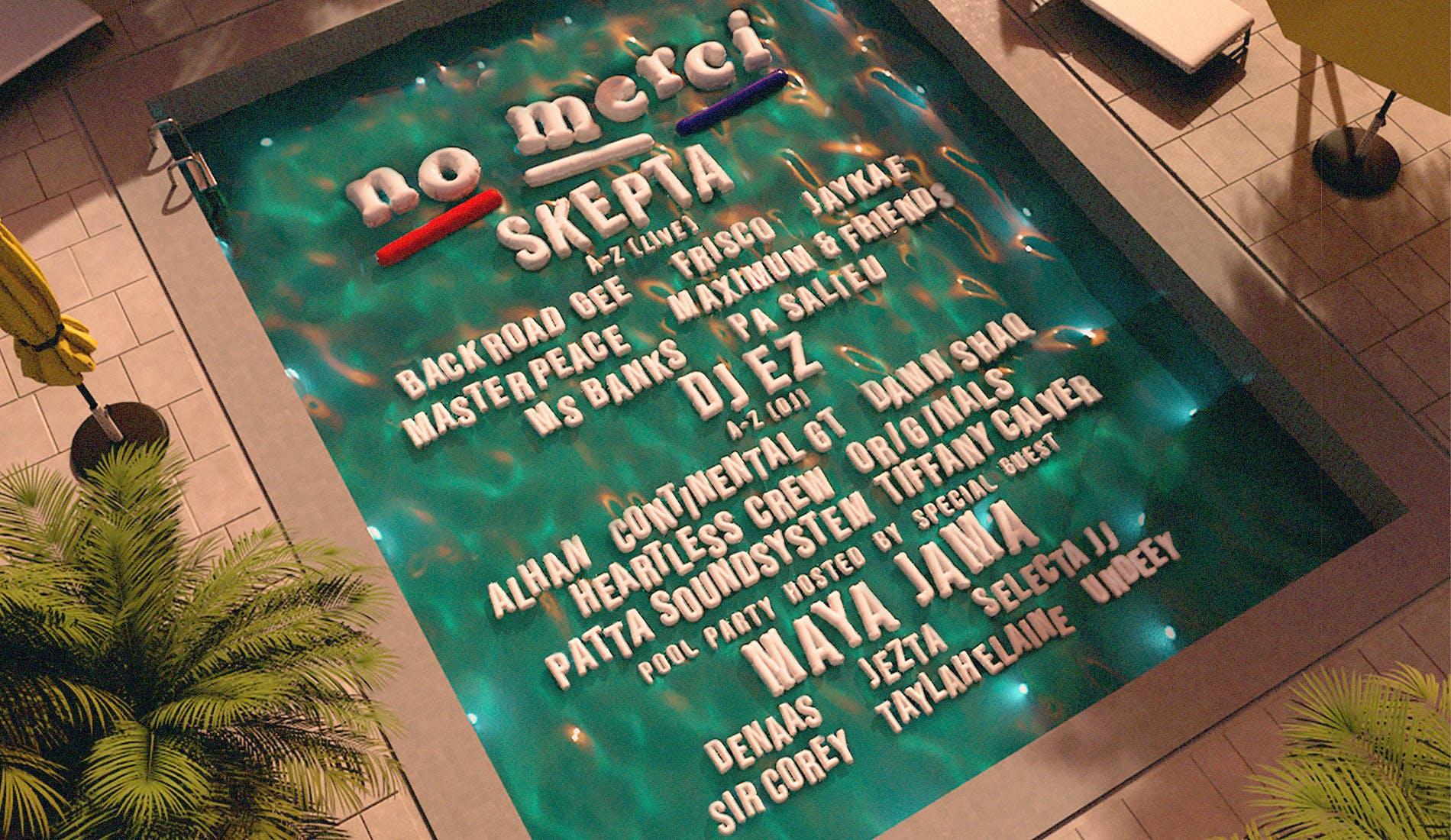 No Merci Skepta lineup poster