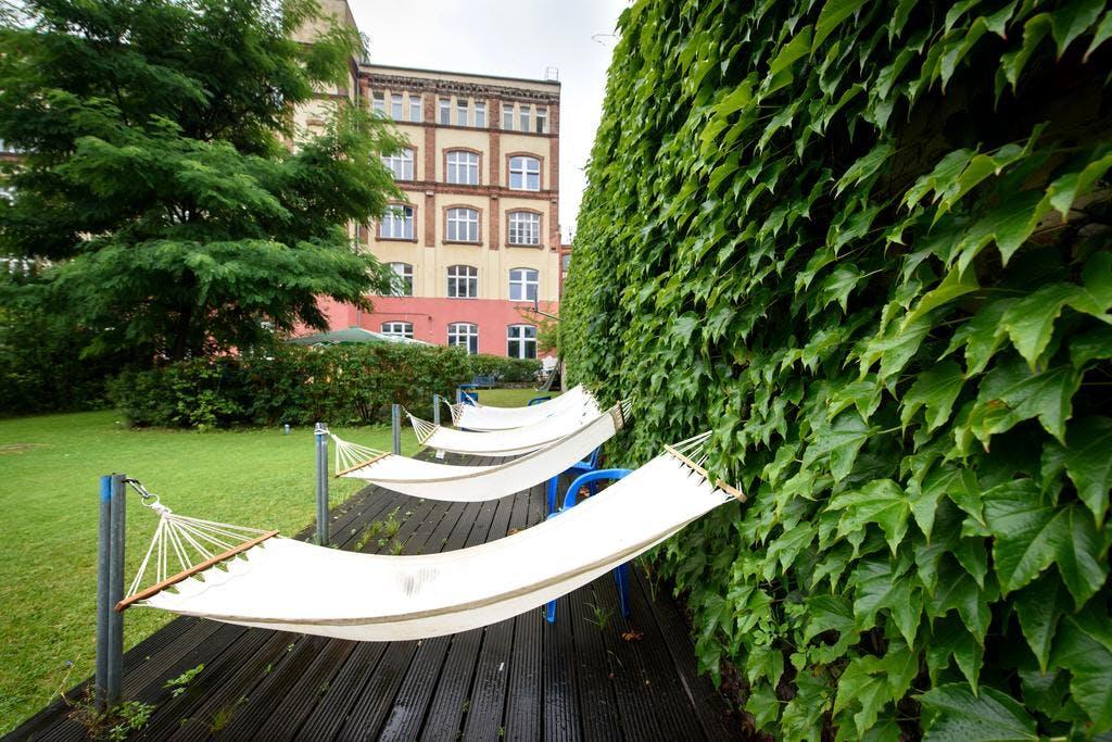 A&O Mitte hotel garden
