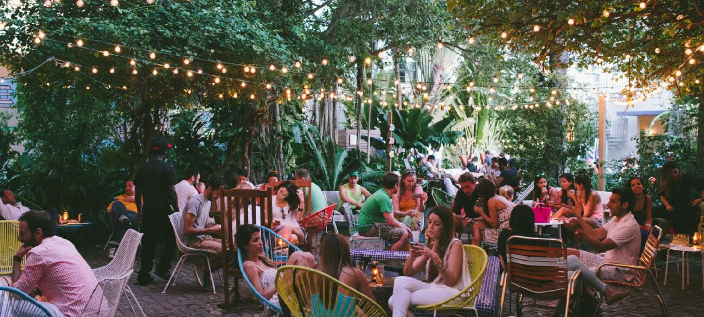 Freehand Miami drinks in the garden