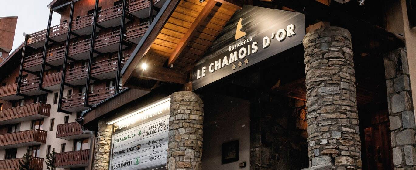 Résidence Le Chamois D'Or front