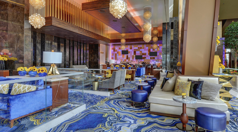 aria hotel lobby