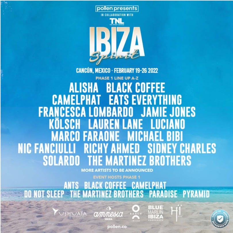 Ibiza Spirit Cancun lineup