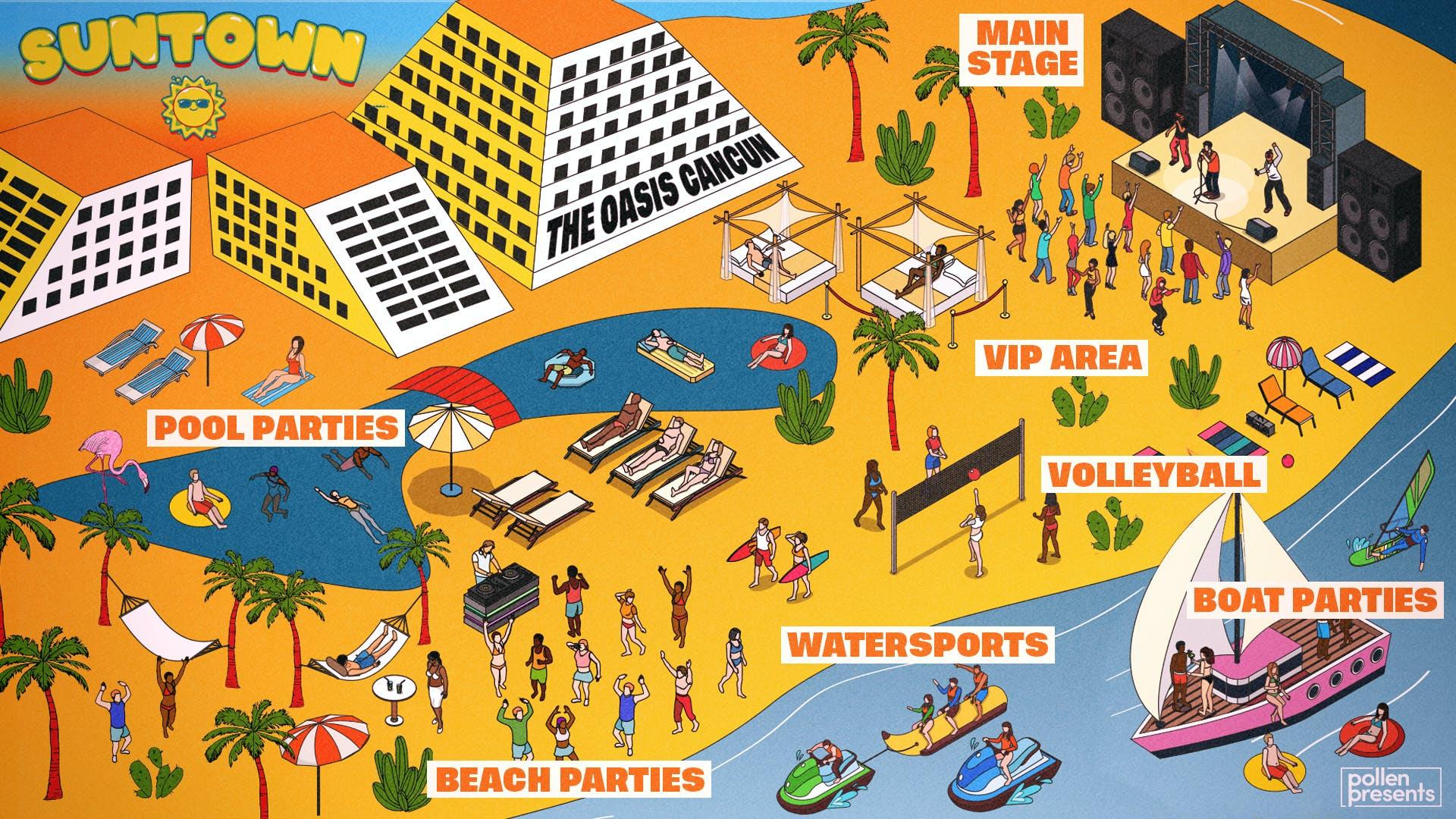 Map of Suntown