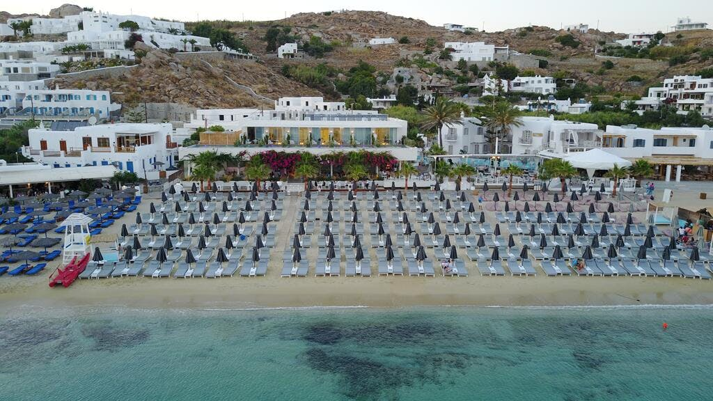 Mykonos Dove Beach Hotel Beach