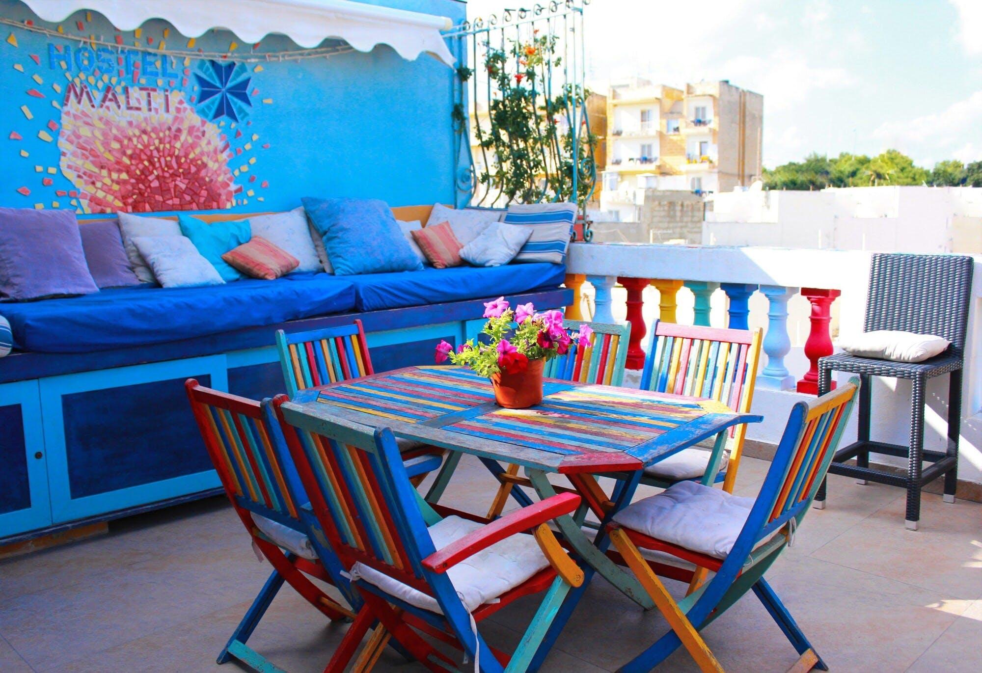 Hostel Malti terrace