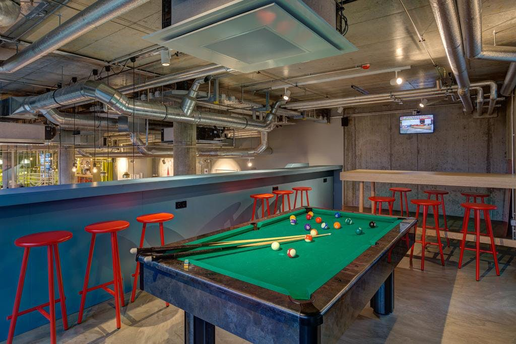 Meininger East pool table and bar