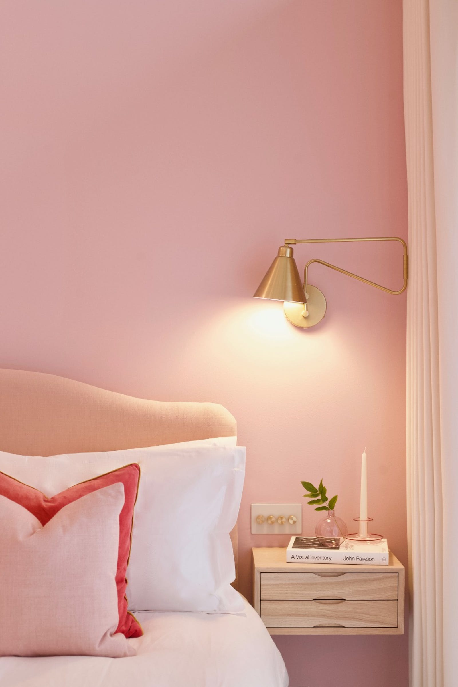Bedroom painted in Lick Pink 03 in partnership with Topology Interiors