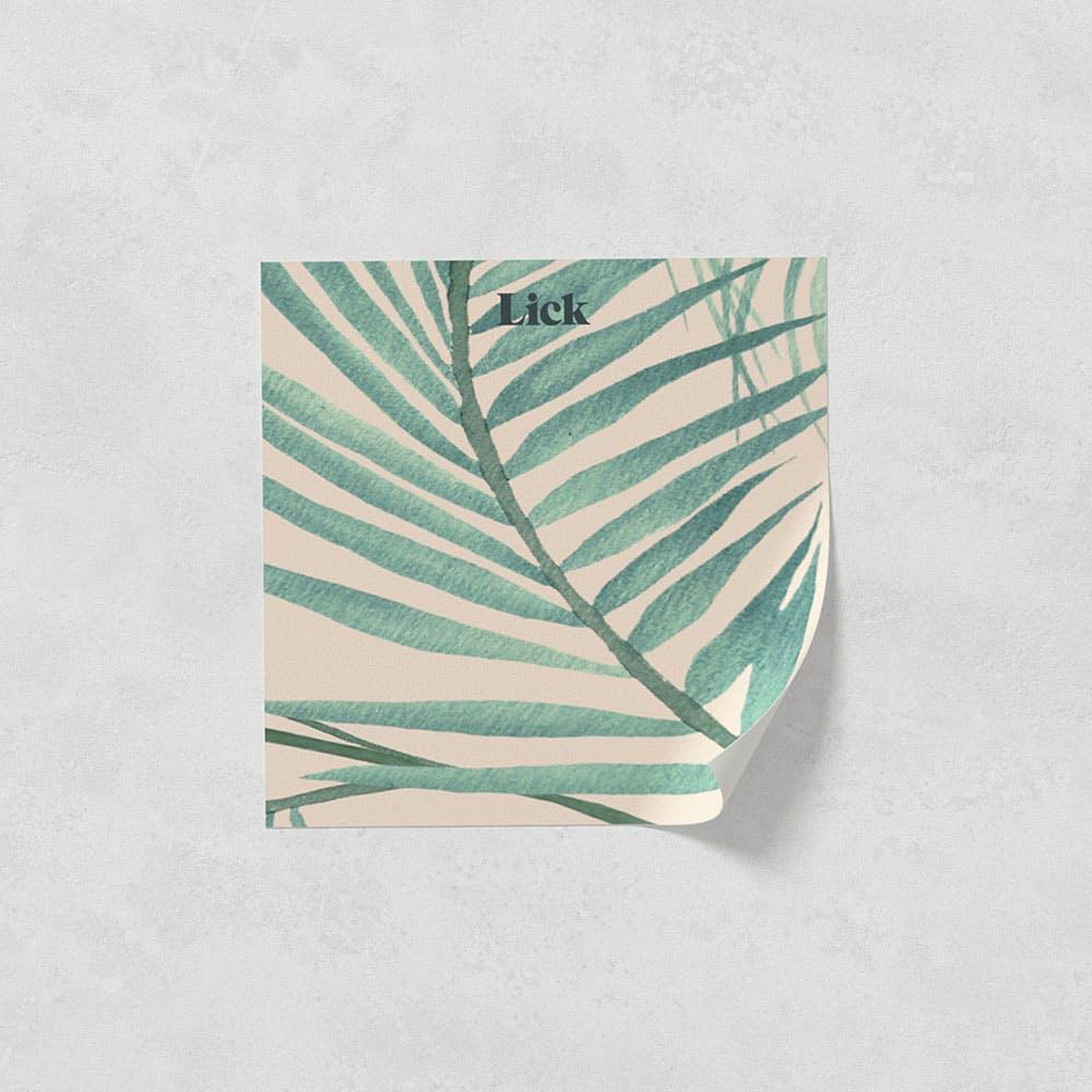 Lick peel and stick wallpaper sample in Jungle 02