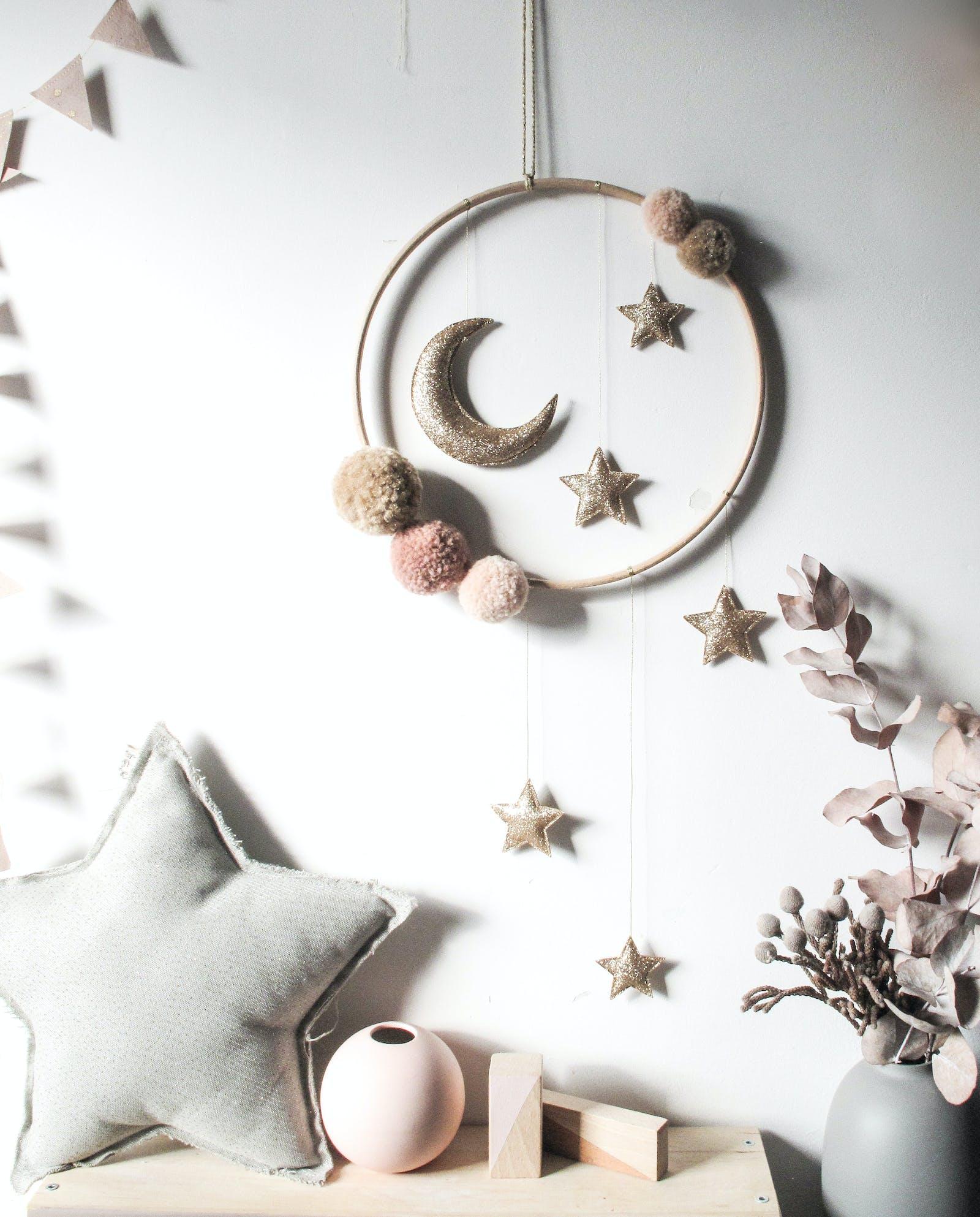 Homemade starry night decor