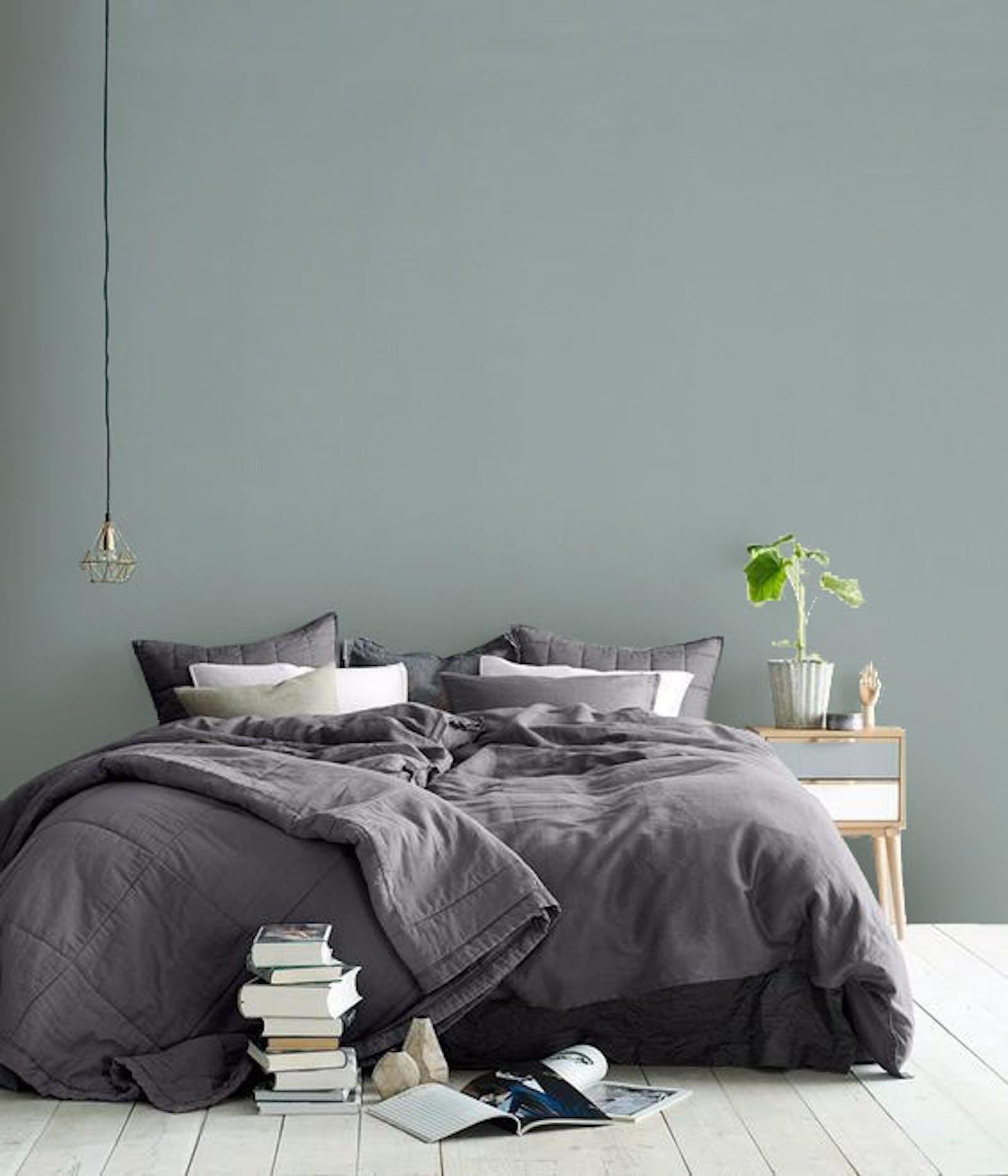 Bedroom painted in Teal 01
