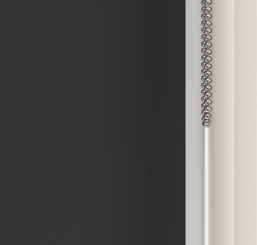 Close up view of Lick Black 02 roller blinds