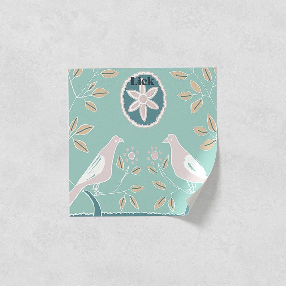 Lick peel and stick wallpaper sample in Dove 02