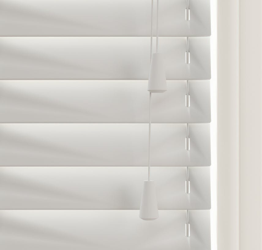 Close up view of Lick Grey 03 Venetian blinds