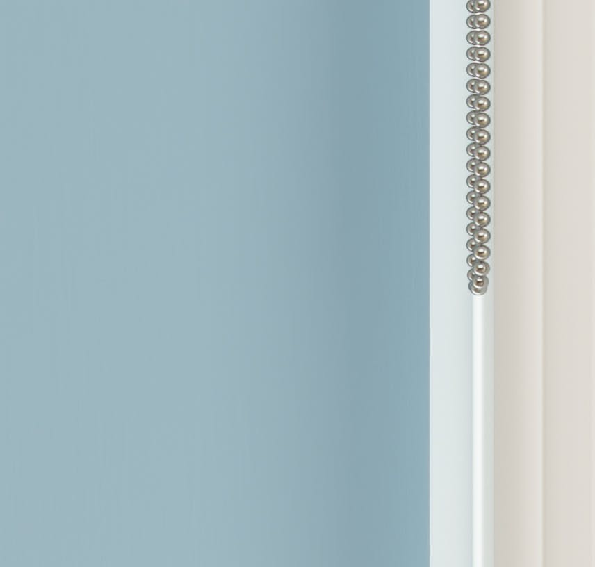 Close up view of Lick Blue 04 roller blinds