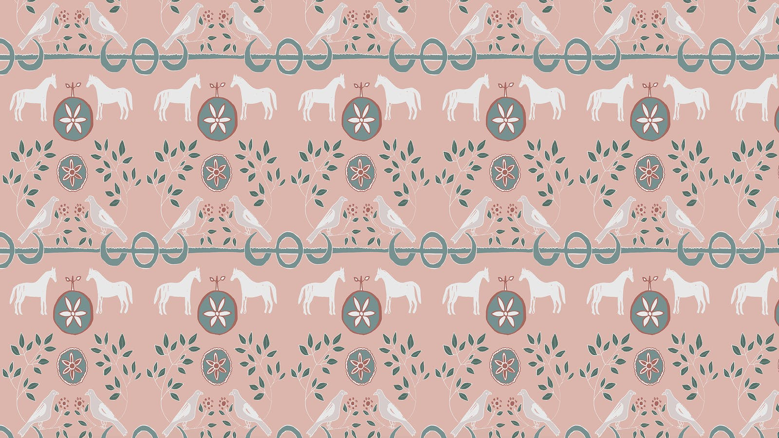 Lick x Annika Reed Dove 01 kid's pink dove wallpaper