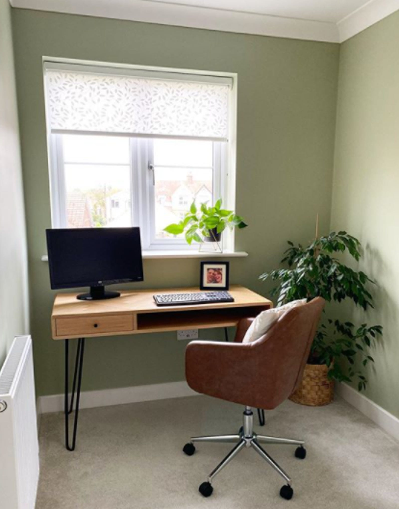 Home office / study painted in Lick Green 01