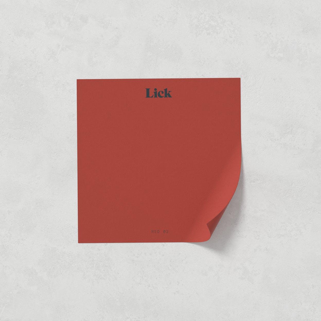 Lick Roller Blind Sample in Red 02