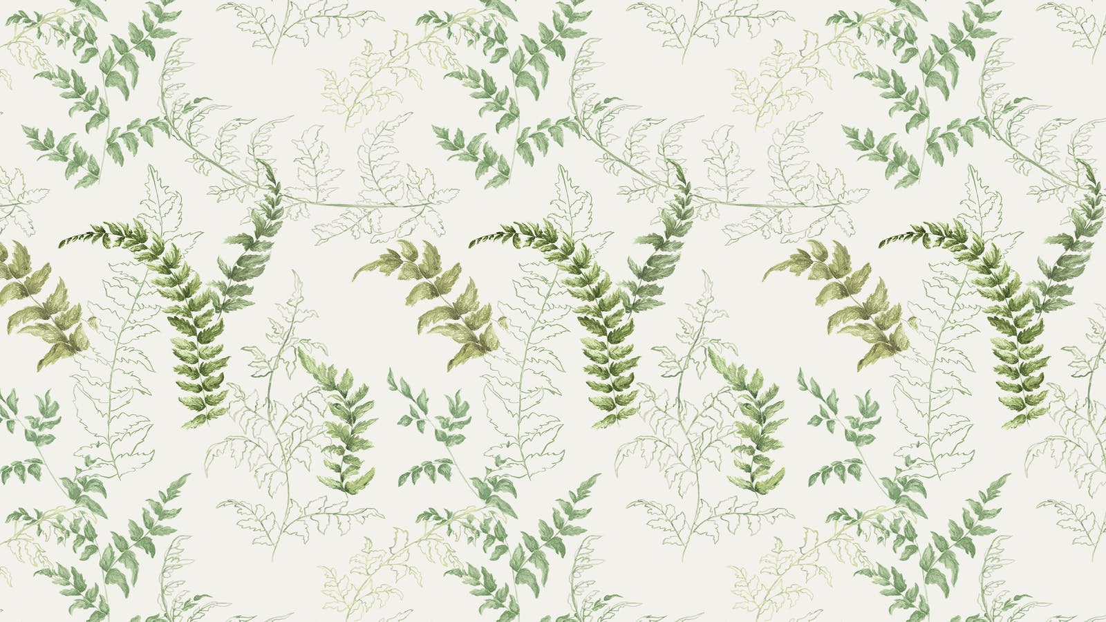 Lick x Jenna Hewitt Fern 01 green botanical wallpaper
