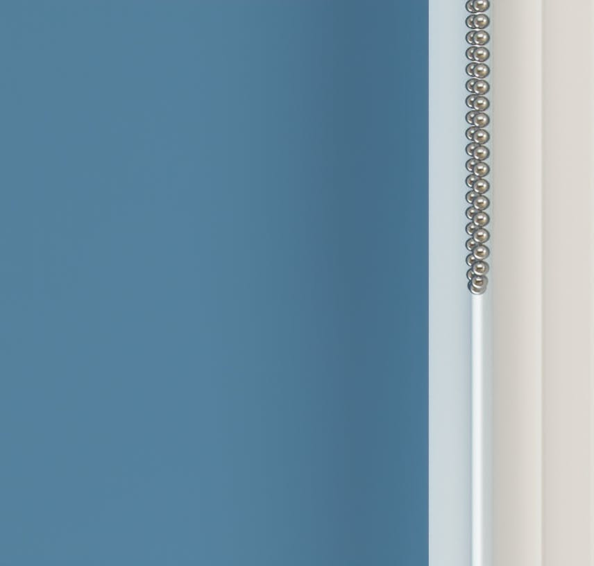 Close up view of Lick Blue 05 roller blinds
