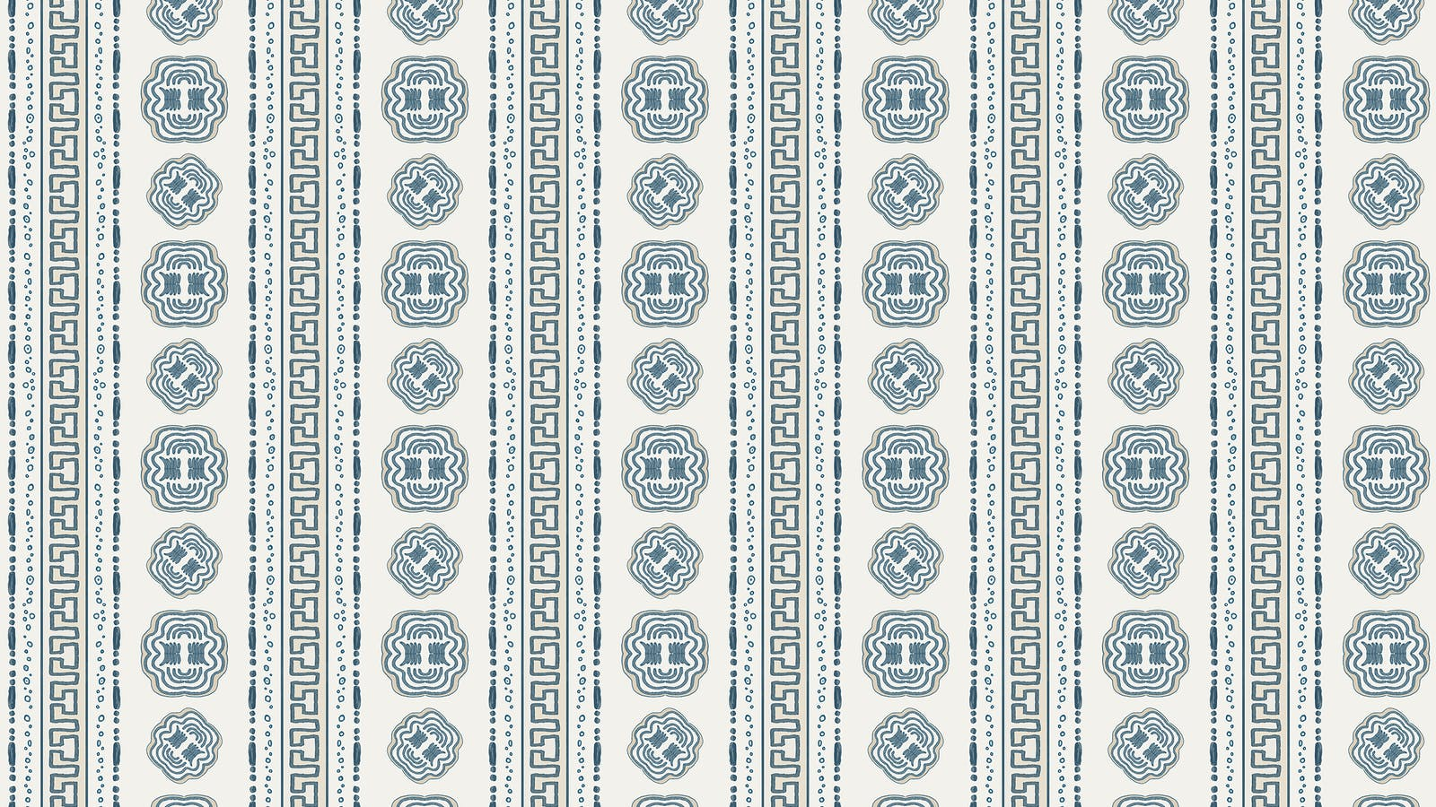 Lick x Lottie McDowell Hestia 01 greek patterened wallpaper