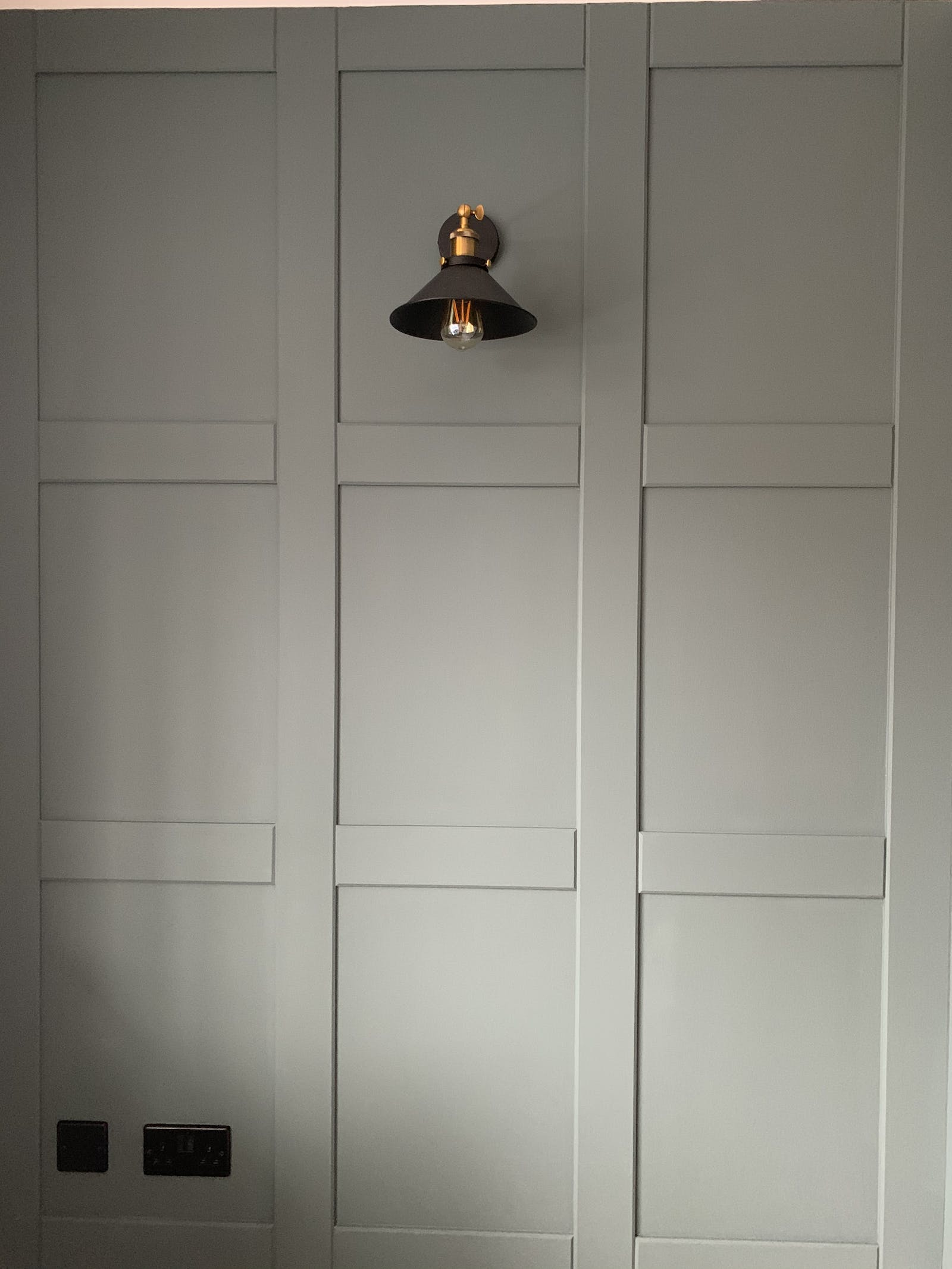 Panelling walls painted in Lick Green 03