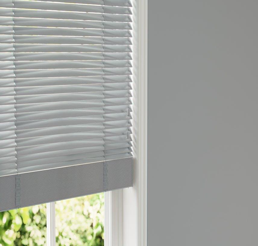 Lick Grey 06 Venetian fine grain blinds against Grey 06 wall